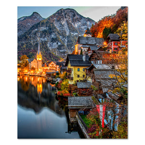 Prints - Sunrise in Hallstatt, Austria