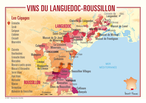 Map of LANGUEDOC