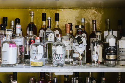 A selection of fine gins in Somerset Wine Co. Castle Cary