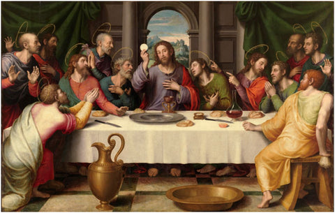 Christ, doing a funky dinner table trick that no doubt involved wine.