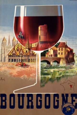 Wine poster for Bourgogne