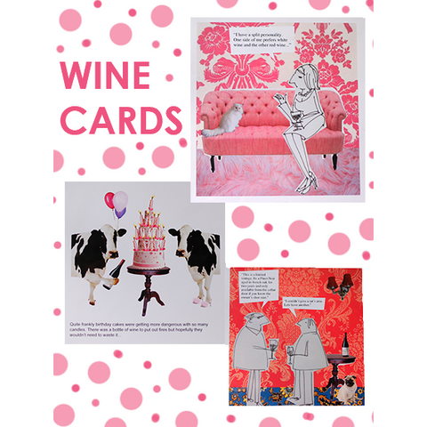 Funny - Hand Made - Wine Cards