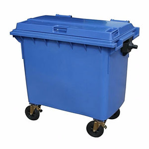 Lockable secure shredding bin 660L