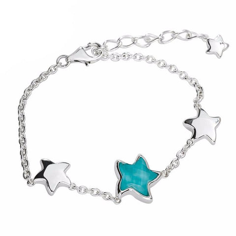Silver Turquoise Starfish Bracelet