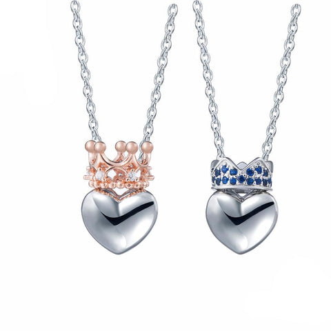 Heart Shaped Crown Necklace
