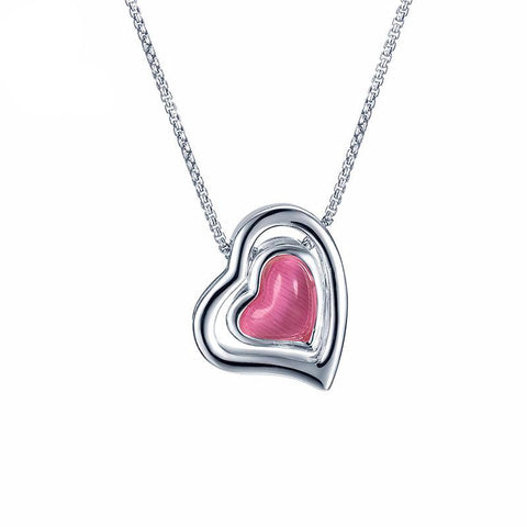 Red Love Hearts Necklace