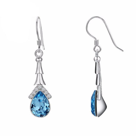 Water Raindrop Drop Earrings