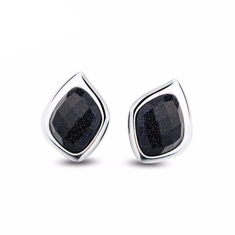Black Sparkle Aventurine Earrings