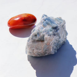 Fire and Ice Duo: Carnelian and Ocean Calcite - Beau Life