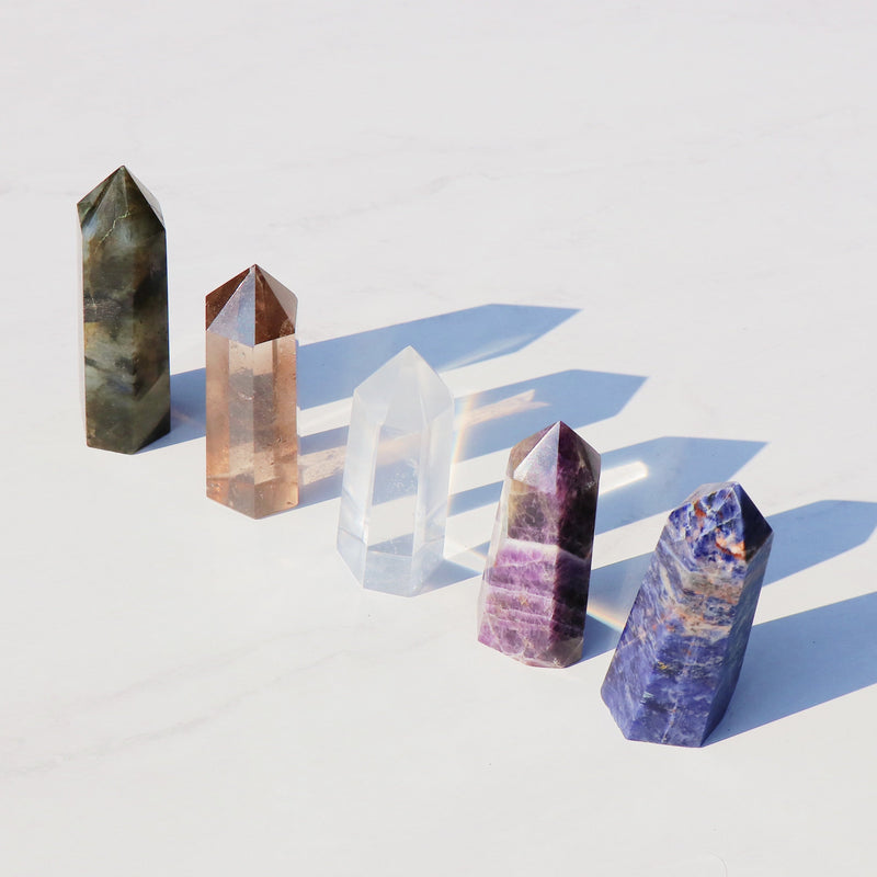 Pentacles 5 Crystal Point Set - Beau Life
