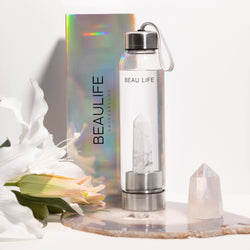 Howlite Crystal Point Water Bottle