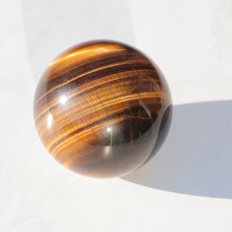 Tiger Eye Crystal Ball