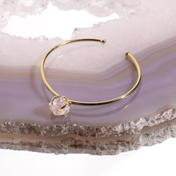Angel Aura Crystal Bangle In Gold Plated 925 Silver - Beau Life