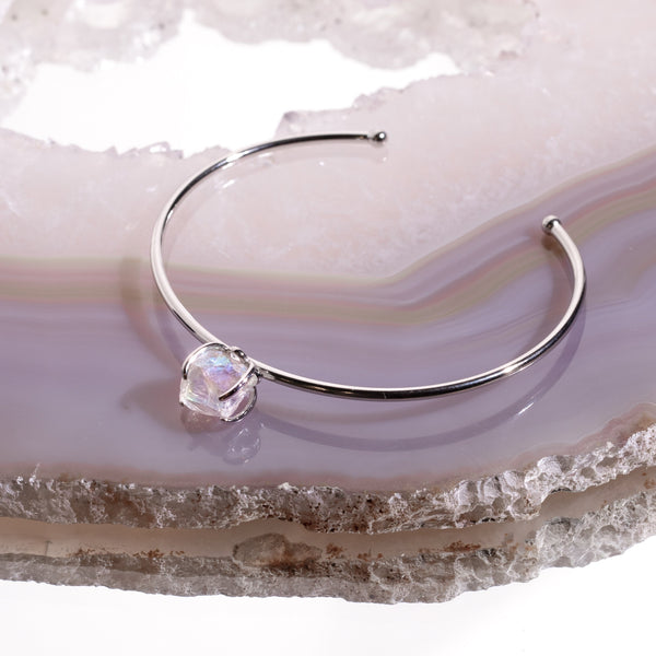 Angel Aura Crystal Bangle In 925 Silver - Beau Life