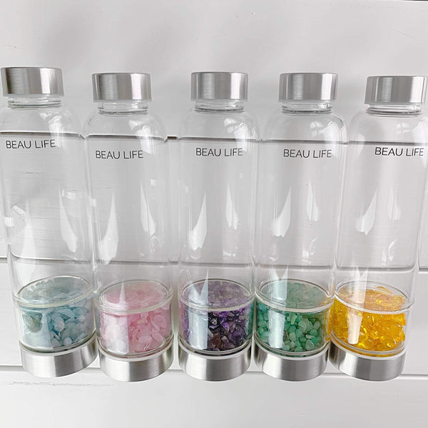 Sun Glass Crystal Water Bottle - Beau Life