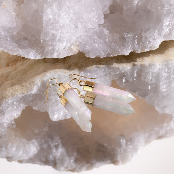 Angel Aura Point Earrings in Gold Plated 925 Sterling Silver - Beau Life