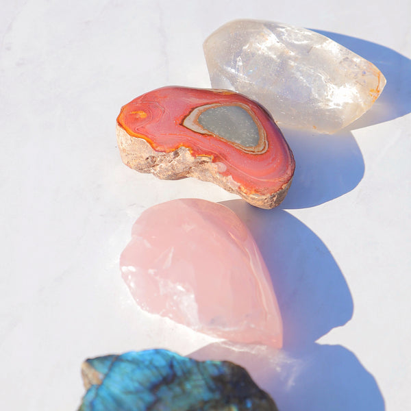 Madagascar Crystal Set (Labradorite, Rose Quartz, Rock Crystal, Polychrome Jasper)