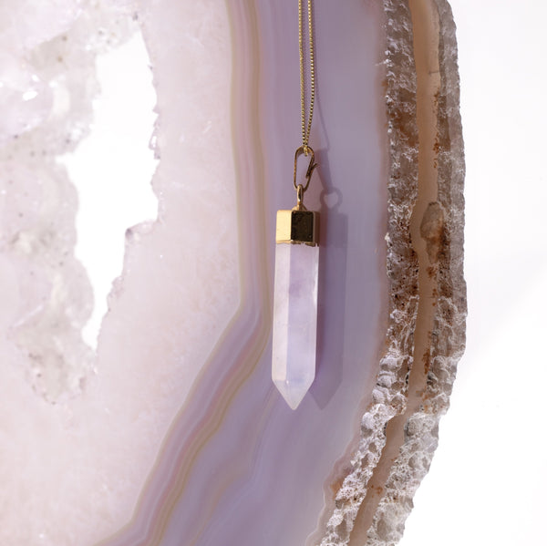 Angel Aura Point Necklace in Gold Plated 925 Sterling Silver - Beau Life