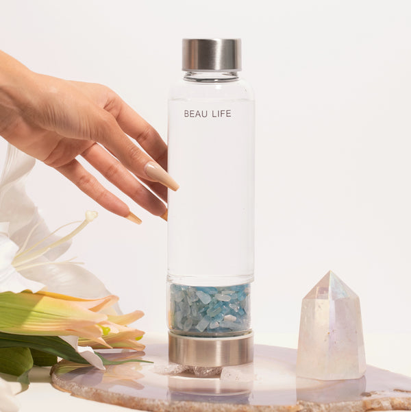 Aquamarine Crystal Water Bottle