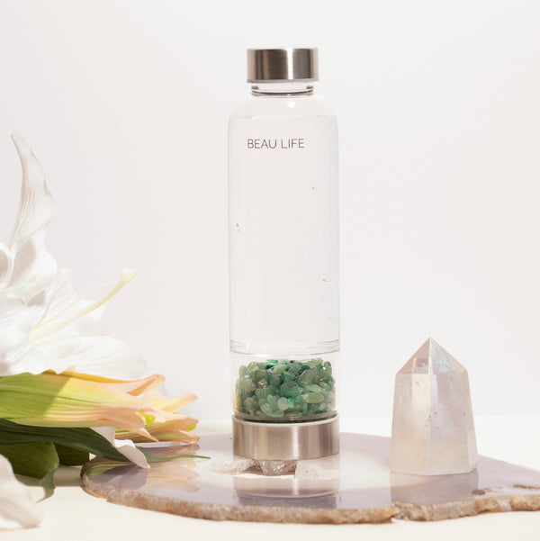 Jade Crystal Water Bottle