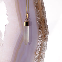Citrine Point Necklace In Gold Plated 925 Sterling Silver - Beau Life