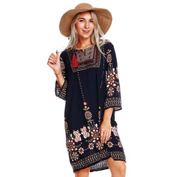 2018 Autumn vintage & casual dress - fashionshoeshouse