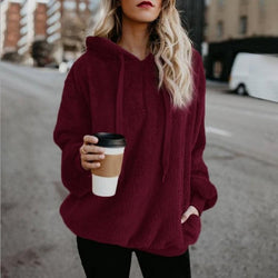 Winter Pullover Sweatshirt Fuzzy Warm - fashionshoeshouse