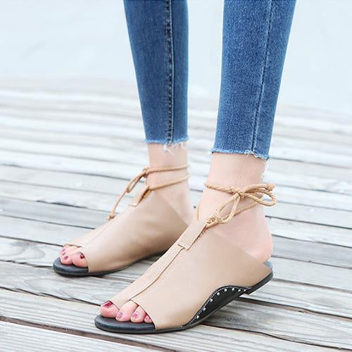 Flat Roman Open Toes Sandals - fashionshoeshouse