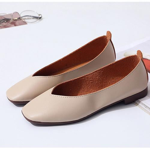 Summer Shallow Slip On Flats - fashionshoeshouse