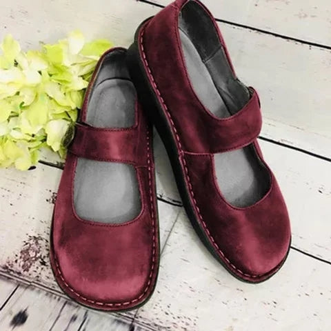 Women Cute Comfy Mary Jane Loafers - fashionshoeshouse