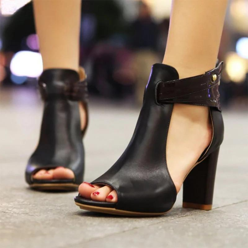 2020 Summer Peep Toe Fashion Sandals - fashionshoeshouse