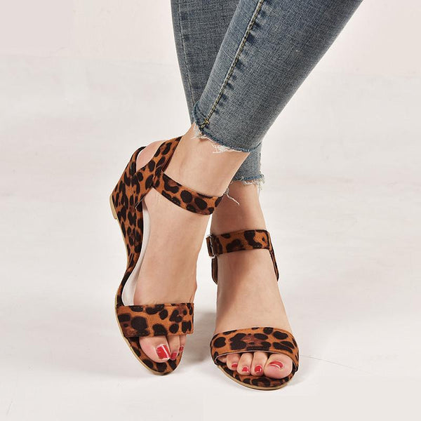 Leisure Summer Leopard For Women Sandals - fashionshoeshouse