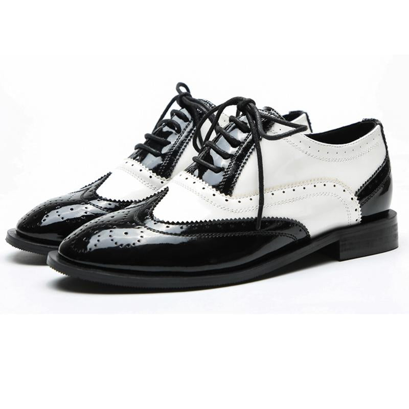 2019 Autumn Spring Lace Up Vintage Oxfords Loafers - fashionshoeshouse