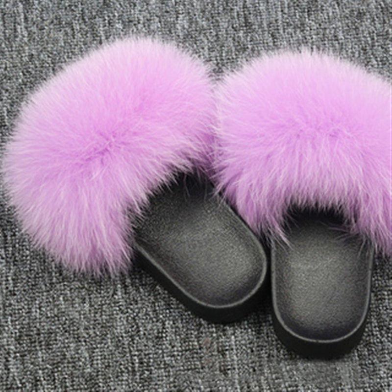 Women Summer Outdoor Furry Slide Sandals