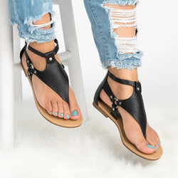 Back Zipper Rivet Metal Ring Hollow Sandals - fashionshoeshouse