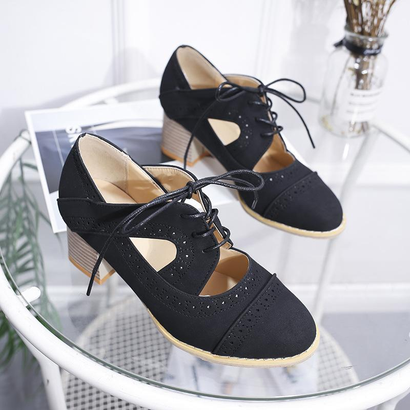 Vintage Shallow Breathable Low Heel Sandals - fashionshoeshouse