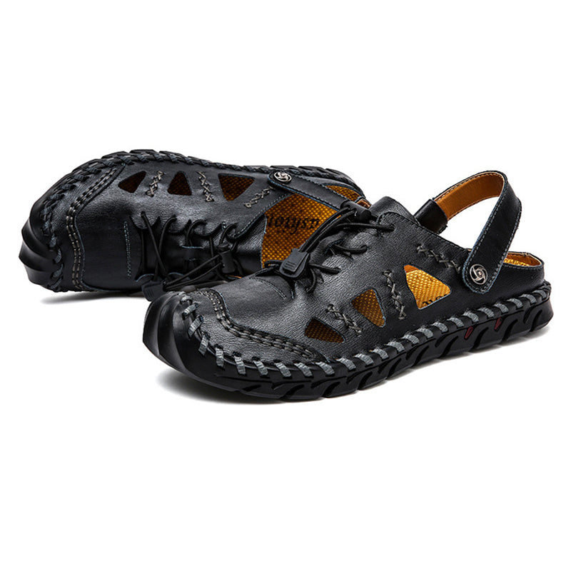 Large Size Handmade Stitching Comfy Leather Sandals For Men