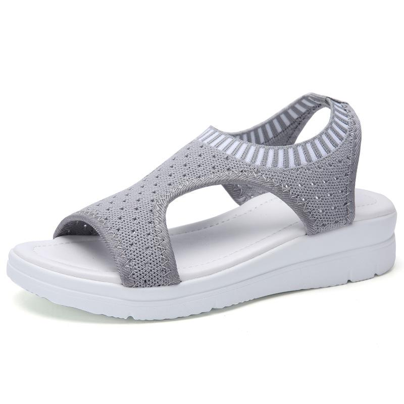 Summer Breathable Comfort Mesh Platform Sandals - fashionshoeshouse