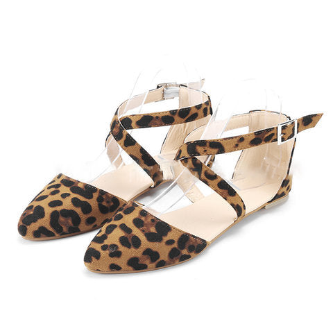 Women Fashion Ankle Strap Flat Sandals - fashionshoeshouse