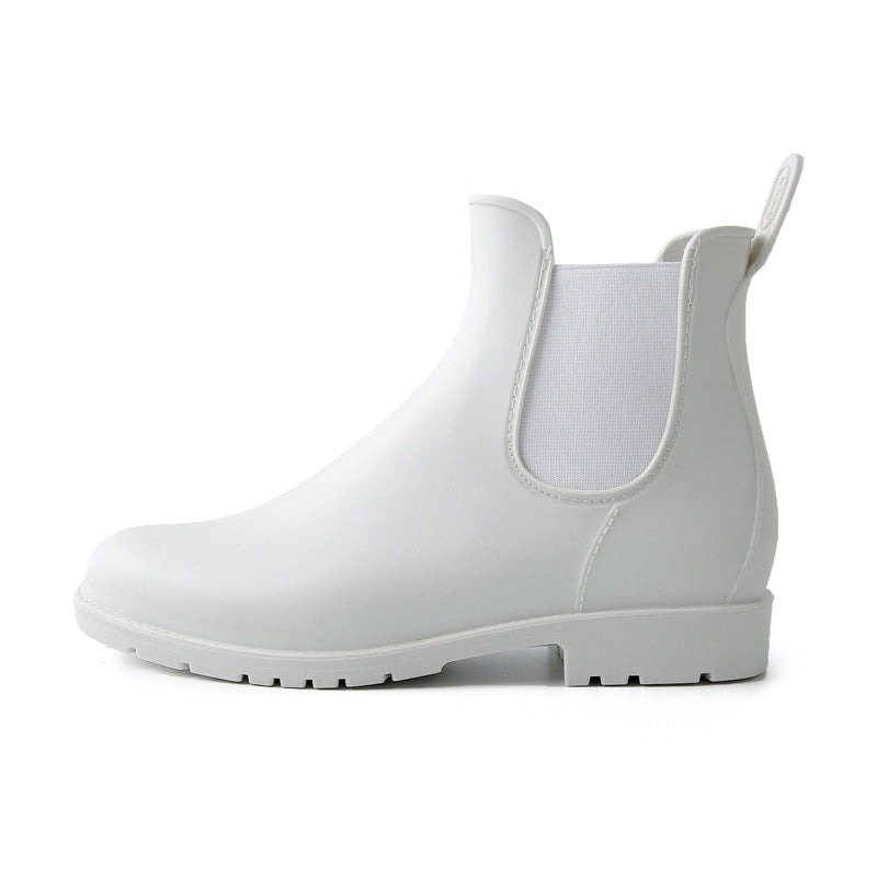 Women's waterproof chelsea boots antiskid ankle high rain boots