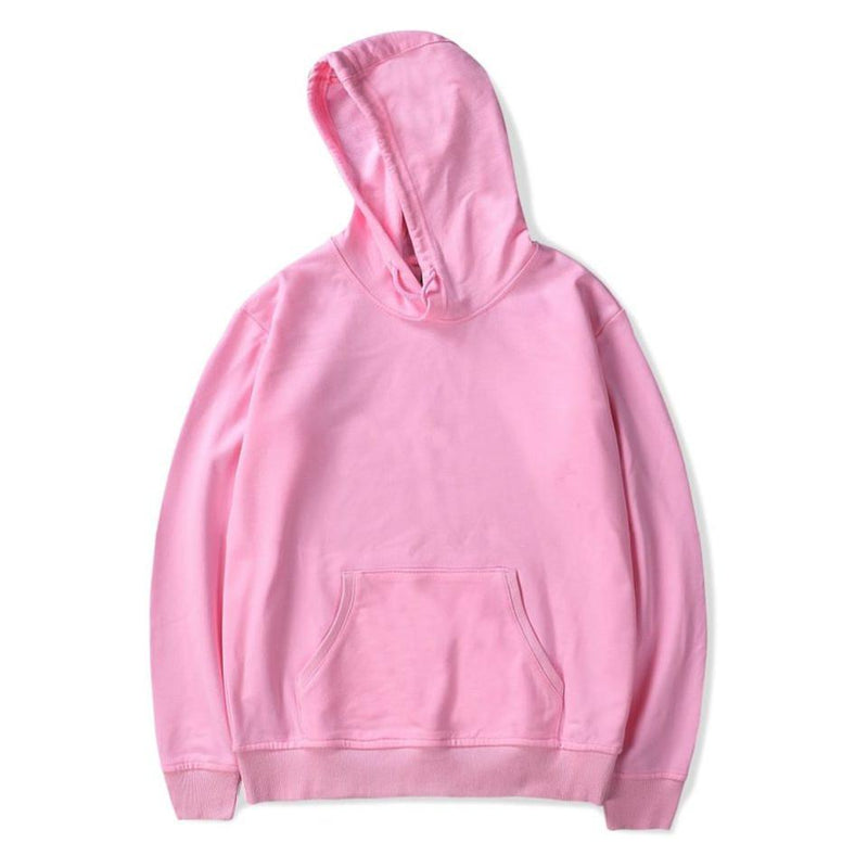 Plus Size Pure Color Hoodies Women Sweatshirts - fashionshoeshouse