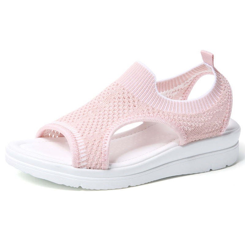 Summer Large Size Mesh Fabric Breathable Comfy Sandals - fashionshoeshouse