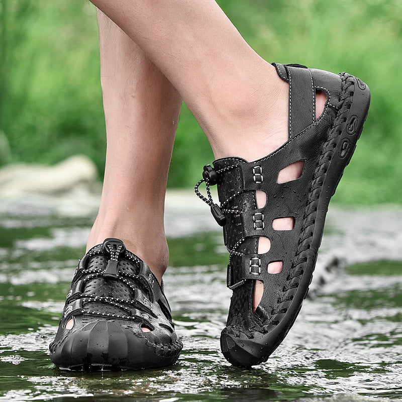 Mens Casual Summer Shoes Water Hiking Sandals - fashionshoeshouse