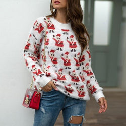 Christmas New Arrival Knitting Printed Women Sweater - fashionshoeshouse