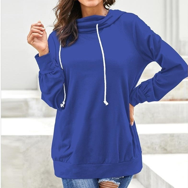 Plus Size Pullover Long Sleeve Sweatshirt Hoodies For Women - fashionshoeshouse