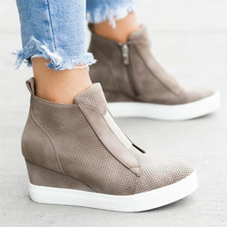 2019 Autumn Wedge Women Loafers Slip On Shoes For Women - fashionshoeshouse