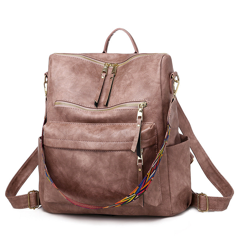 Women Retro Large Backpack Travel Backpacks Shoulder School Bags - fashionshoeshouse