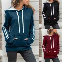 Hoodie Drawstring Pull Over Kangaroo Bag Sweatshirts For Women - fashionshoeshouse