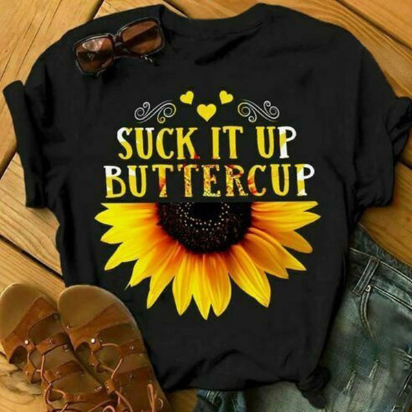 Suck It Up Buttercup Summer Shirts & Tops - fashionshoeshouse