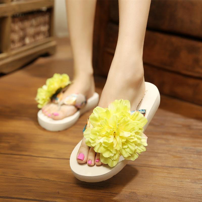 11 Colors Faux Pearl Big Flowers Satin Slippers For Women - fashionshoeshouse